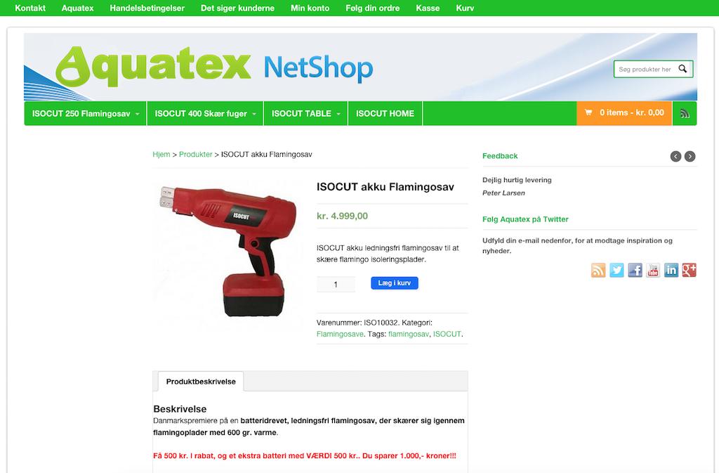 Aquatex produktside